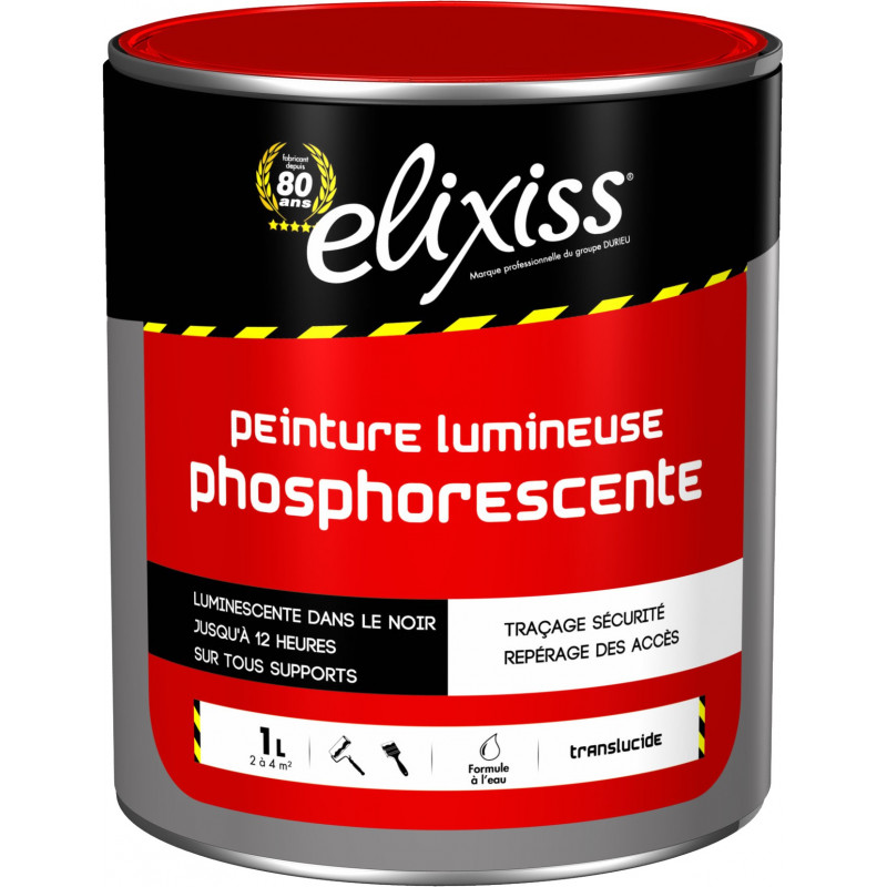 elixiss lumelix peinture lumineuse phosphorescente tra age de s curit signalisation dans l. Black Bedroom Furniture Sets. Home Design Ideas