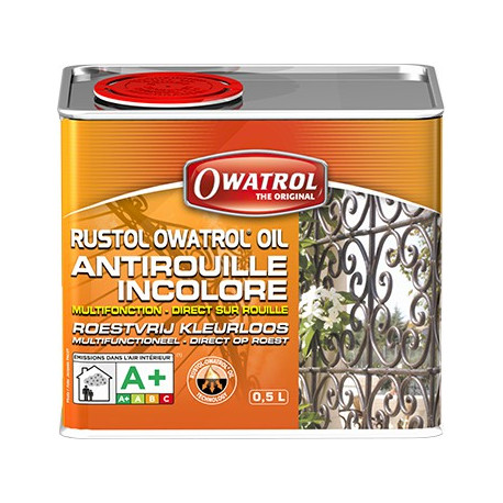 RustolOwatrol Vernis Incolore Multifonction Antirouille Pntrant